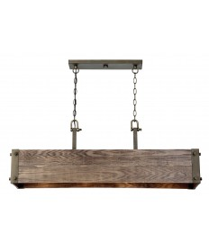 Nuvo 60/6424 | Nuvo Lighting Winchester 4 Light Trestle Island Pendant With Aged Wood