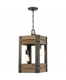 Nuvo Lighting 60/6425 Winchester Collection 2 Light Pendant Bronze/Aged Wood Finish