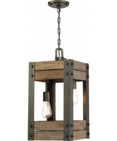 Nuvo 60/6425 Nuvo Lighting Winchester 2 Light Pendant Bronze/Aged Wood