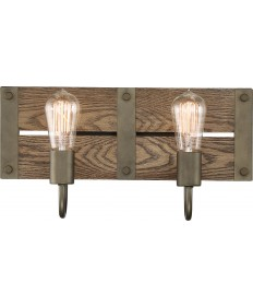 Nuvo 60/6428 Nuvo Winchester Collection 2 Light Vanity Bronze/Aged Wood