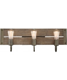 Nuvo Lighting 60/6429 Winchester Collection 3 Light Vanity Bronze/Aged Wood