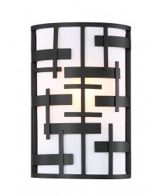 Nuvo Lighting 60/6431 Lansing 1 Light Wall Sconce With White Fabric