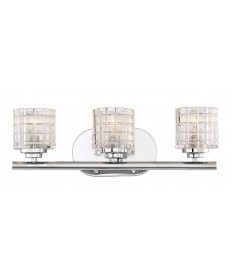 Nuvo Lighting 60/6443 Votive 3 Light Vanity With Clear Glass