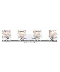 Nuvo Lighting 60/6444 Votive 4 Light Vanity With Clear Glass