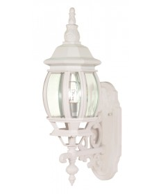 Nuvo Lighting 60/885 Central Park 1 Light 20 inch Wall Lantern with Clear Beveled Glass