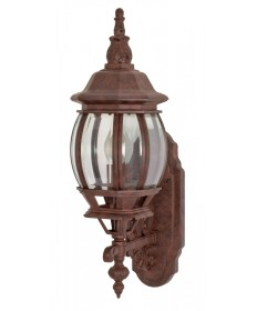 Nuvo Lighting 60/886 Central Park 1 Light 20 inch Wall Lantern with Clear Beveled Glass