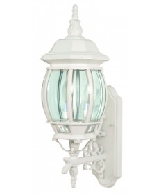 Nuvo Lighting 60/888 Central Park 3 Light 22 inch Wall Lantern with Clear Beveled Glass