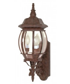 Nuvo Lighting 60/889 Central Park 3 Light 22 inch Wall Lantern with Clear Beveled Glass