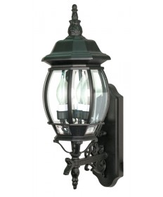 Nuvo Lighting 60/890 Central Park 3 Light 22 inch Wall Lantern with Clear Beveled Glass