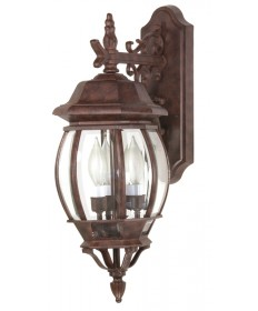 Nuvo Lighting 60/892 Central Park 3 Light 22 inch Wall Lantern with Clear Beveled Glass