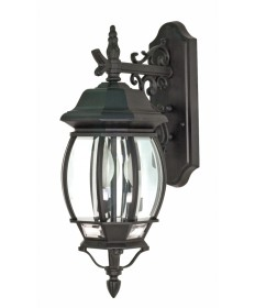 Nuvo Lighting 60/893 Central Park 3 Light 22 inch Wall Lantern with Clear Beveled Glass