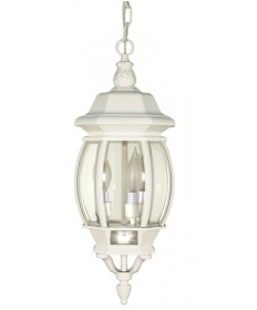 Nuvo Lighting 60/894 Central Park 3 Light 20 inch Hanging Lantern with Clear Beveled Glass