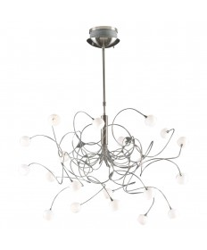 PLC Lighting 6030 SN 20 Light Chandelier Fusion Collection