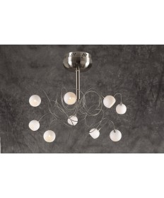 PLC Lighting 6039 SN 9 Light Ceiling Light Fusion Collection