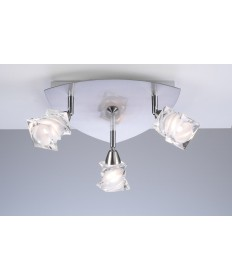 PLC Lighting 6071 SN 3 Light Ceiling Light Avatar Collection
