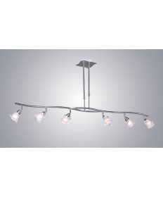PLC Lighting 6073 SN 6 Light Pendant Avatar Collection