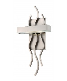 Nuvo Lighting 62/104 Wave LED Wall Sconce with Frosted Glass