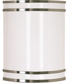 "Nuvo Lighting 62/1045 Glamour LED 9"" Wall Sconce Brushed Nickel Finish"