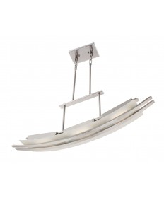 Nuvo Lighting 62/133 Trax 3 Module Island Pendant with Frosted Glass