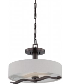 Nuvo Lighting 62/138 Wave LED Semi Flush