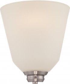 Nuvo Lighting 62/361 Calvin 1 Light Wall Sconce with Satin White Glass