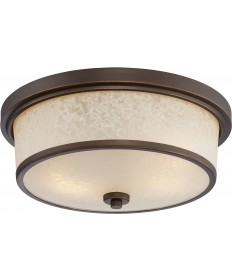 Nuvo Lighting 62/643 Diego LED Outdoor Flush Fixture with Satin Amber