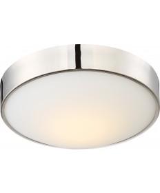 "Nuvo Lighting 62/774 Perk 13"" LED Flush with White Glass"