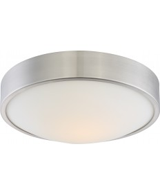 "Nuvo Lighting 62/775 Perk 13"" LED Flush with White Glass"