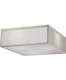 """Nuvo Lighting 62/892 Crate 17"""" LED Flush Fixture with Gray Marbleized"""