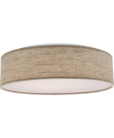 "Nuvo Lighting 62/985R1 15"" Fabric Drum LED Decor Flush Mount Fixture"