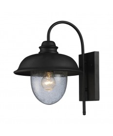 ELK Lighting 62000-1 Streetside Cafe 1 Light Outdoor Sconce in Matte Black