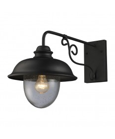 ELK Lighting 62001-1 Streetside Cafe 1 Light Outdoor Sconce in Matte Black