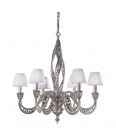 ELK Lighting 6236/6 Renaissance 6 Light Chandelier in Sunset Silver and Crystal Accents