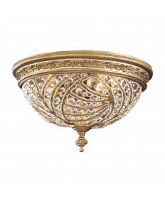 ELK Lighting 6242/4 Renaissance 2 Light Flush Mount in Dark Bronze and Crystal Accents