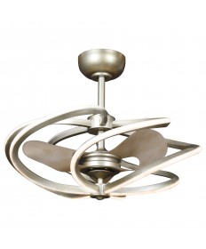 Access Lighting 63113LEDD-IGLD Vortex (m) 6-Light LED Pendant with Fan