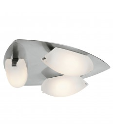 Access Lighting 63953LEDD-MC/FST Nido 3-Light Dimmable LED Flush Mount
