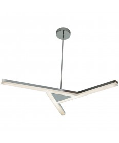 Access Lighting 63965LEDD-CH/ACR Aviator Dimmable LED Pendant