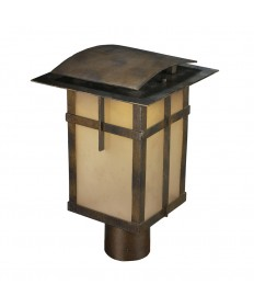 ELK Lighting 64013-1 San Fernando 1 Light Title 24 Compliant LED Outdoor Post Light in Hazelnut Bronze