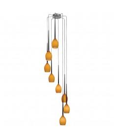 PLC Lighting 67028 AMB/BK Dew Collection