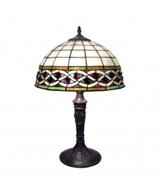 Dimond Lighting 70141-2 Angel Wing 2 Light Table Lamp in Tiffany Bronze with Tiffany Glass Shade