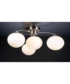 PLC Lighting 7228 SN 4 Light Ceiling Light Aosta Collection