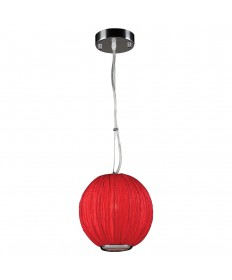 PLC Lighting 73001 RED 1 Light Pendant Sidney Collection
