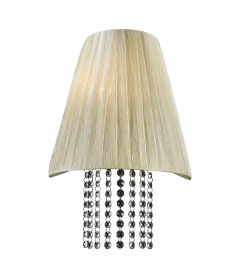 PLC Lighting 73028 BEIGE 1 Light Sconce Angelina Collection