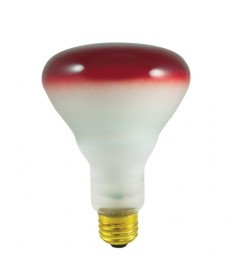 Bulbrite 247075 | 75 Watt BR30 Reflector, Medium Base, Red