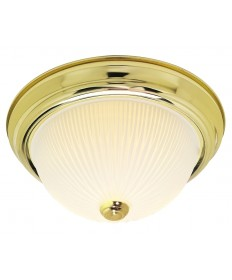 Nuvo Lighting 76/132 2 Light 13 inch Flush Mount Frosted Ribbed
