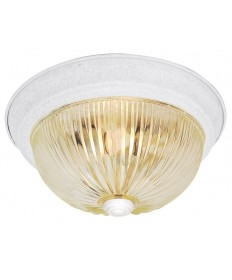 Nuvo Lighting 76/193 3 Light 15 inch Flush Mount Clear Ribbed Glass