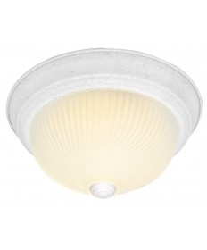 Nuvo Lighting 76/196 2 Light 11 inch Flush Mount Frosted Ribbed Swirl Glass