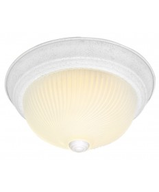 Nuvo Lighting 76/197 3 Light 15 inch Flush Mount Frosted Ribbed Swirl Glass