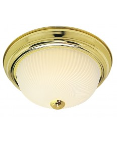 Nuvo Lighting 76/214 2 Light 13 inch Flush Mount Frosted Ribbed Swirl Glass