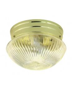 Nuvo Lighting 76/252 2 Light 10 inch Flush Mount Medium Clear Ribbed Mushroom